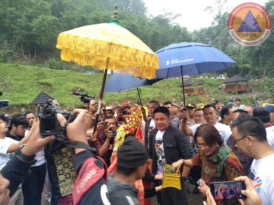 Kabid Kesiapsiagaan & Pencegahan BPBD Prov. Sumsel Menghadiri Undangan Acara Syukuran & Silaturahmi Gubernur Sumsel di Pagaralam