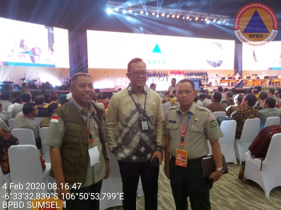 Gubernur Sumsel Bersama Kalaksa BPBD Prov. Sumsel Menghadiri Acara Rakornas Penanggulangan Bencana di Sentul Bogor